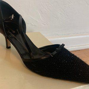 Vintage Kate Spade New York Black Glitter Pump